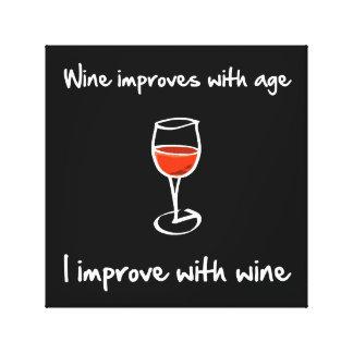 Wine Improves Canvas Print