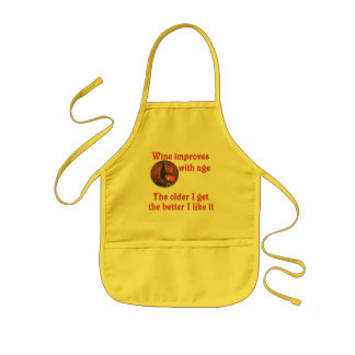Wine improves with age #2 kids' apron