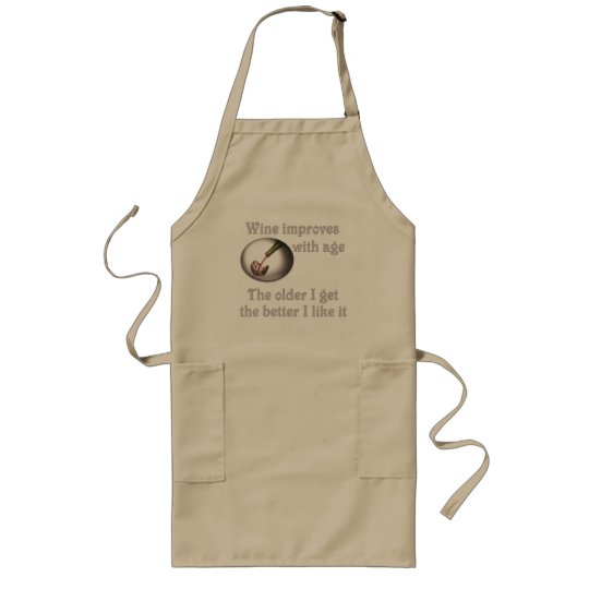 Wine improves with age #3 long apron