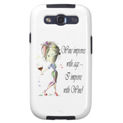 Wine improves with age, humorous art gifts samsung galaxy SIII cases