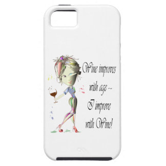 Wine improves with age, humorous Women and Wine iPhone SE/5/5s Case