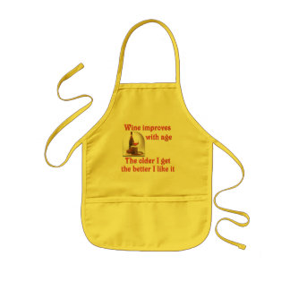 Wine improves with age kids' apron