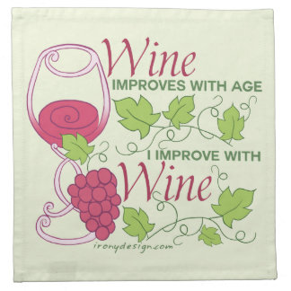Wine Improves With Age Napkin