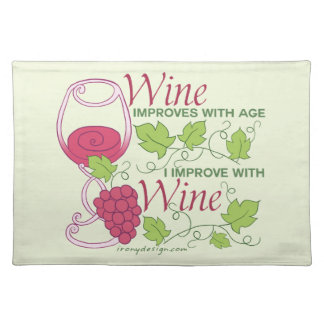 Wine Improves With Age Placemat