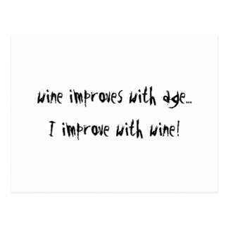 Wine Improves With Age Postcard