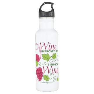 Wine Improves With Age Stainless Steel Water Bottle