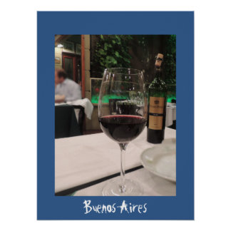 Wine in Buenos Aires Poster
