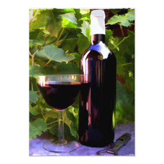 """Wine in the Sunset 5"""" X 7"""" Invitation Card"""
