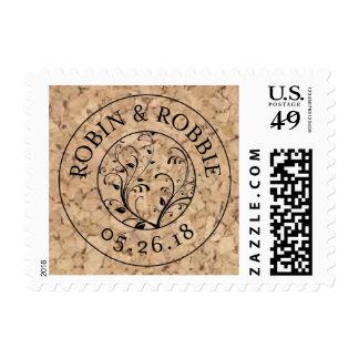 Wine Inspired Wedding Stamp