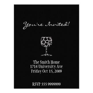 Wine invitation card