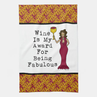 Wine Is My Award For Being Fabulous Hand Towel