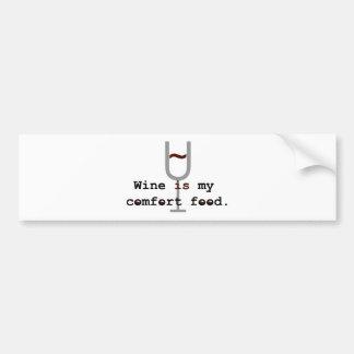 Wine is my comfort food car bumper sticker