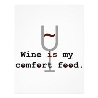 Wine is my comfort food custom letterhead