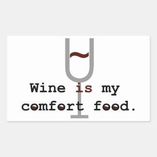 Wine is my comfort food rectangle sticker