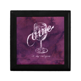 Wine is my religion! jewelry box