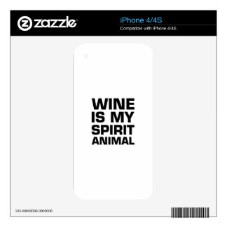Wine Is My Spirit Animal Decals For iPhone 4