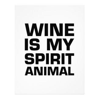 Wine Is My Spirit Animal Letterhead