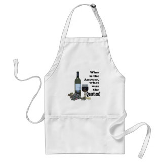 Wine is the answer, what was the Question?  Gifts Adult Apron