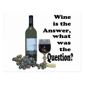 Wine is the answer, what was the question? Gits Postcard