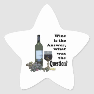 Wine is the answer, what was the question? Gits Star Sticker