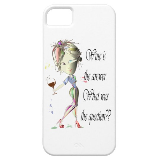 Wine is the Answer - what was the question?? iPhone SE/5/5s Case