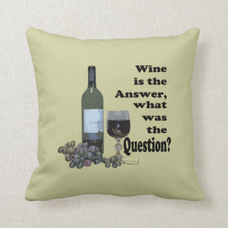 Wine is the answer, what was the question? Pillow