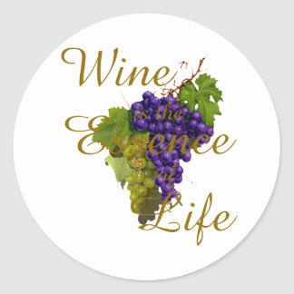 Wine is the Essence of Life Sticker