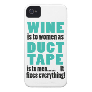 Wine is to women as duct tape is to men… iPhone 4 Case-Mate case