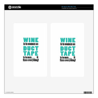 Wine is to women as duct tape is to men… skins for kindle fire