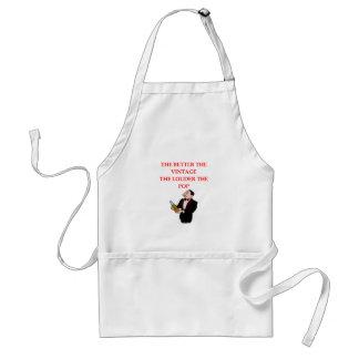 wine joke apron