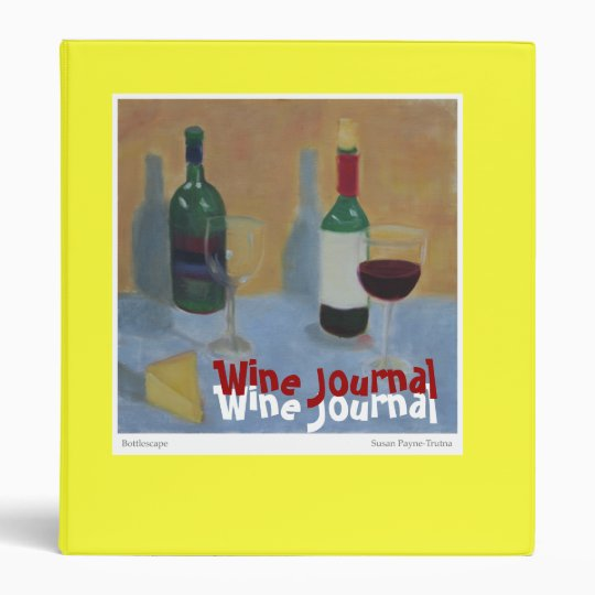 Wine Journal 3 Ring Binder