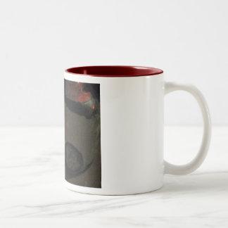 Wine Jug Maroon-Lined Mug