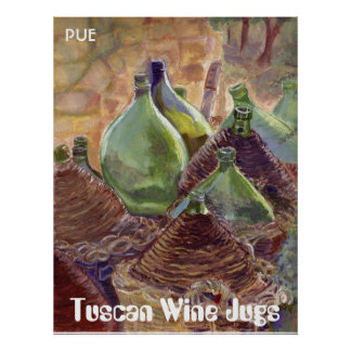 Wine jugs 300008, Tuscan Wine Jugs, PUE Poster