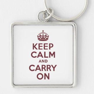 Wine Keep Calm and Carry On Keychain