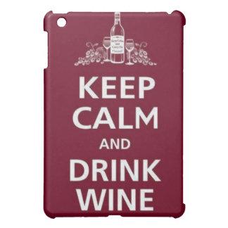 "WINE: ""KEEP CALM AND DRINK WINE"" iPad MINI CASES"
