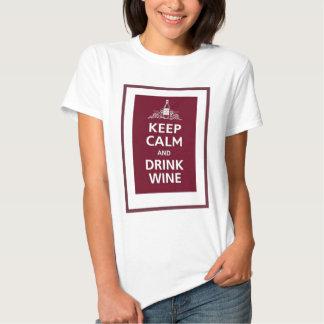 "WINE: ""KEEP CALM AND DRINK WINE"" T SHIRT"