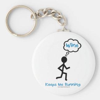 Wine - Keeps Me Running Keychain