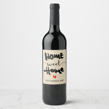 miprincess WINE LABEL - NEW HOME, HOME SWEET HOME