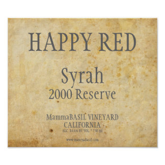 Wine Label Poster