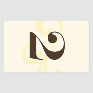 Wine Label Table Number Stickers 2