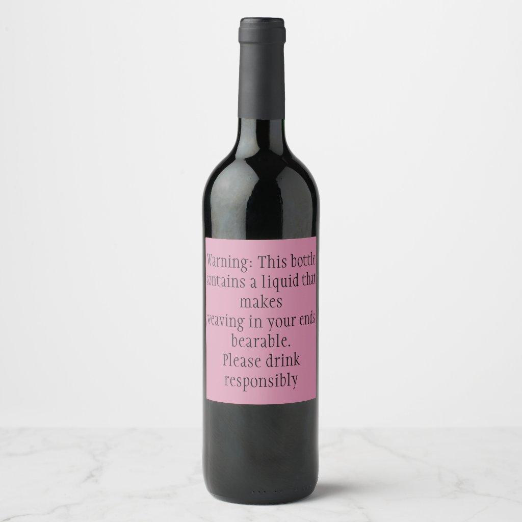 Wine label - weaving ends