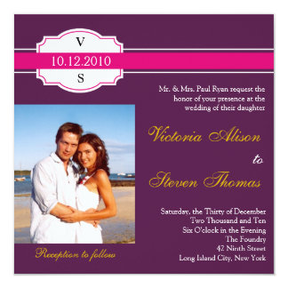 Wine Label wedding invitation