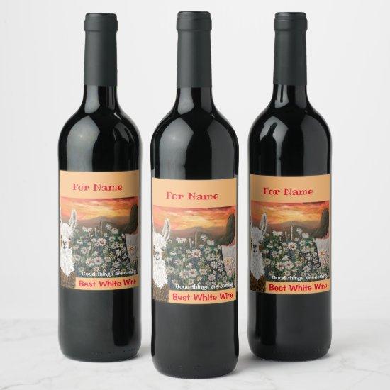Wine Labels Good Things Are Coming Mama Llama