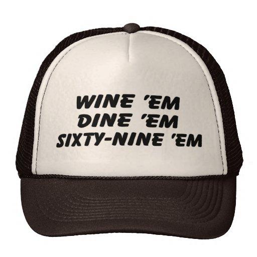 Wine los cenan sesenta y nueve ellos gorra del cam