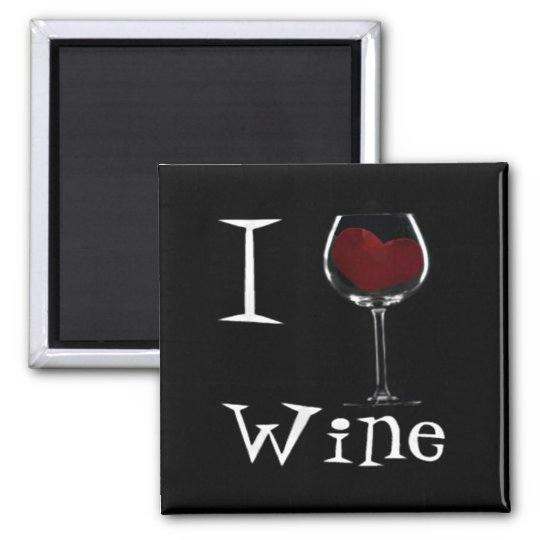 Wine-Love 2 Inch Square Magnet