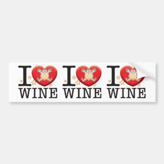 Wine Love Man Car Bumper Sticker