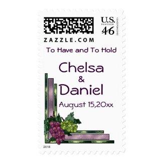 Wine Love Wedding stamp