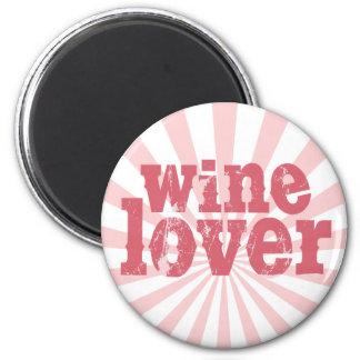 Wine Lover 2 Inch Round Magnet
