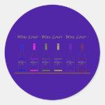 WINE LOVER_6 BOTTLE ROUND STICKER