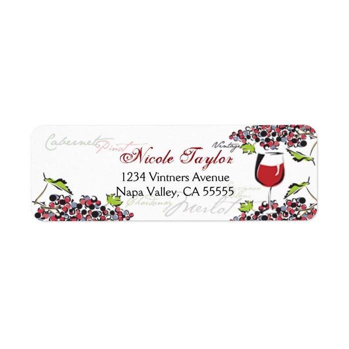 Wine Lover Address Label Small Zazzle